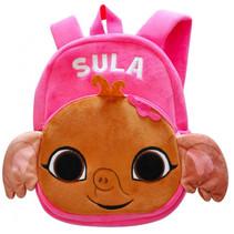 rugzak Sula junior 5 liter pluche/polyester bruin/roze