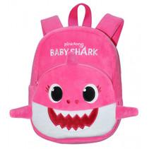 rugzak Baby Shark junior 5 liter pluche/polyester roze