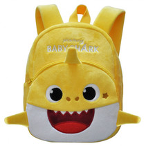 rugzak Baby Shark junior 5 liter pluche/polyester geel