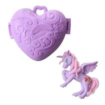 eenhoorn Pocket Unicorn meisjes 7,5 cm paars 2-delig