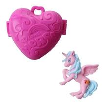 eenhoorn Pocket Unicorn meisjes 7,5 cm roze 2-delig