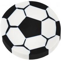 gum voatbal junior 4 cm rubber wit/zwart
