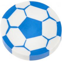 gum voatbal junior 4 cm rubber wit/blauw