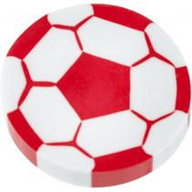 gum voatbal junior 4 cm rubber wit/rood