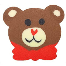 gum Beer junior 3,5 cm rubber bruin/rood