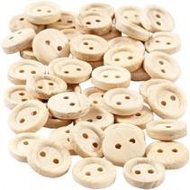houten knopen 11 mm 50 stuks