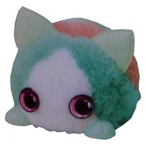 DIY-dier Fuzzy Fun junior 8 x 11 cm pluche groen/wit