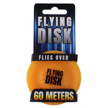 frisbee 6,5 x 1,5 cm siliconen oranje