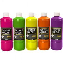 textielverf Neon 500 ml 5-delig