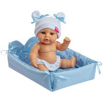 babypop met verschoonkussen meisjes 25 cm blauw