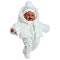 babypop Lloroncete meisjes 28 cm wit/bruin 5-delig