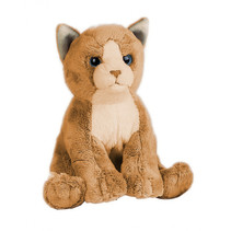 knuffelpoes miauw miauw junior 17 cm pluche beige/bruin