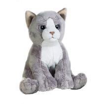 knuffelpoes miauw miauw junior 17 cm pluche grijs