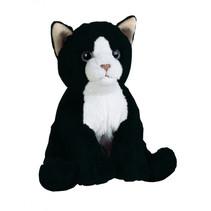 knuffelpoes miauw miauw junior 17 cm pluche zwart
