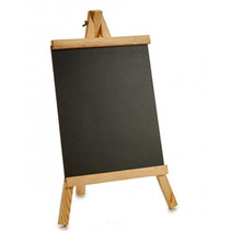 schoolbord junior 25 x 46 cm leisteen/hout zwart