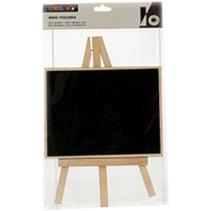 schildersezel vierkant 21 x 33 cm hout naturel/zwart