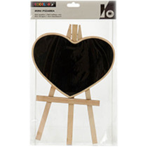 schildersezel hart 21 x 33 cm hout naturel/zwart