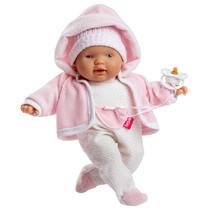 babypop Lloroncete meisjes 28 cm wit/lichtroze 5-delig