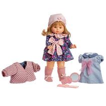 tienerpop Colette meisjes 45 cm roze/donkerblauw