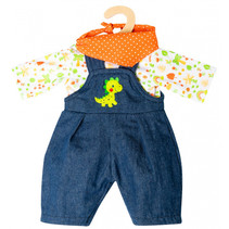 babypoppenkleding junior 35-45 cm textiel 3-delig