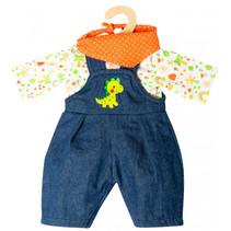 babypoppenkleding junior 28-35 cm textiel 3-delig