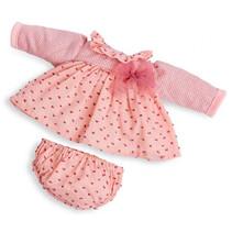 poppenjurk Laura meisjes 38 cm textiel roze 2-delig