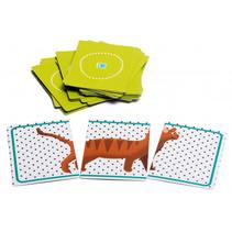 kaartspel Animals junior 8,5 x 6 cm karton groen
