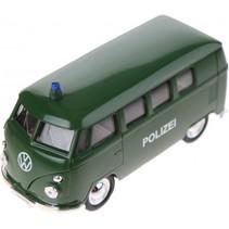 volkswagen microbus Politie (1963) groen 11,5 cm