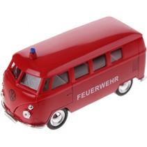 volkswagen microbus Brandweer (1963) rood 11,5 cm