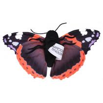 vingerpop vlinder 22 cm pluche zwart