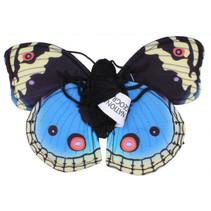 vingerpop vlinder 22 cm pluche blauw/zwart