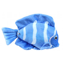 knuffelvis Tropical 21 cm pluche blauw/wit