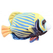 knuffelvis Tropical 21 cm pluche geel/blauw