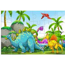 legpuzzel dinosaurussen junior 41 x 28 cm karton 24-delig
