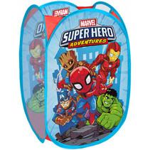 opbergmand Avengers junior 36 x 35 x 58 polyester blauw