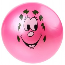 speelbal Smiley junior 20 cm roze