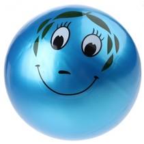 speelbal Smiley junior 20 cm blauw