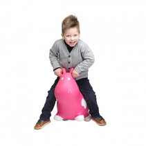 skippybal Bouncy Koe 55 x 26 x 42 cm roze
