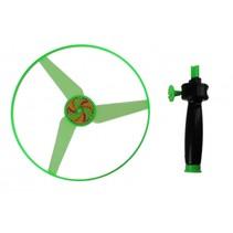 vang- en lanceerspel ufo groen 14 cm