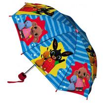paraplu junior 52 cm polyester blauw/rood/geel