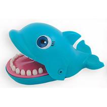 kinderspel bijtende dolfijn junior 20 cm blauw