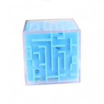 Hersenkraker Doolhof kubus blauw