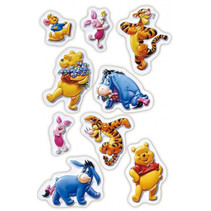 3D stickers Winnie the Pooh junior 9-delig