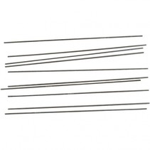metalen staaf 20 cm zilver 2 mm per 10 stuks