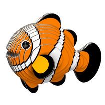 maak je eigen Clownvis junior 11,4 x 7,6 cm karton oranje