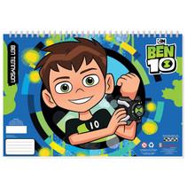 kleurboek Ben 10 jongens 33 cm papier blauw 3-delig