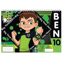 kleurboek Ben 10 jongens 33 cm papier groen 3-delig