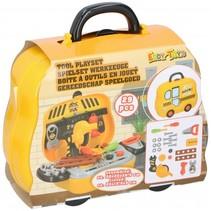 gereedschapskoffer Tools jongens geel 29-delig