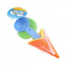strandset ijsje junior 10 cm oranje/geel 4-delig