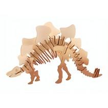 3D-puzzel Stegosaurus 11 x 15 cm hout bruin